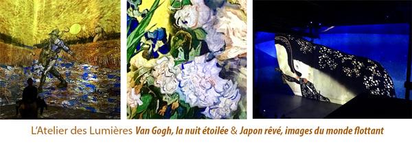 IXIA Artiste - Van Gogh, la nuit étoilée & Japon rêvé, images du monde flottant Latelier des lumières Septembre 2019