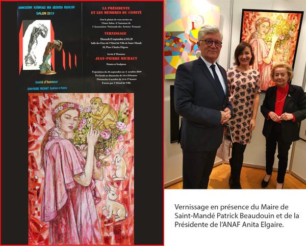 IXIA Artiste - 72e Salon de lANAF Saint-Mandé, 2019
