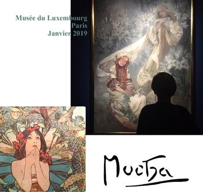 IXIA Artiste - Mucha Musée du Luxembourg, Paris Janvier 2019
