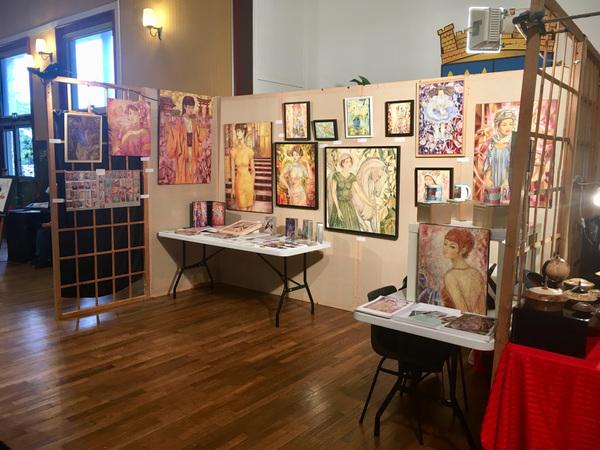 IXIA Artiste - Peintures originales et produits dérivés dIXIA au 4e Salon de lartisanat, art et bien-être de Verneuil-sur-Avre avec ACTIV Novembre 2019