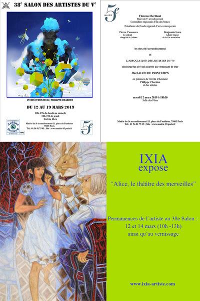 IXIA Artiste - 38e Salon des artistes du Ve Paris Mars 2019