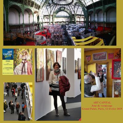 IXIA Artiste - Salon des Artistes Français ART CAPITAL au Grand Palais, Paris Février 2019