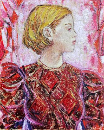 IXIA Artiste - Rachel ou Se tenir à carreau 33 x 41 cm HST