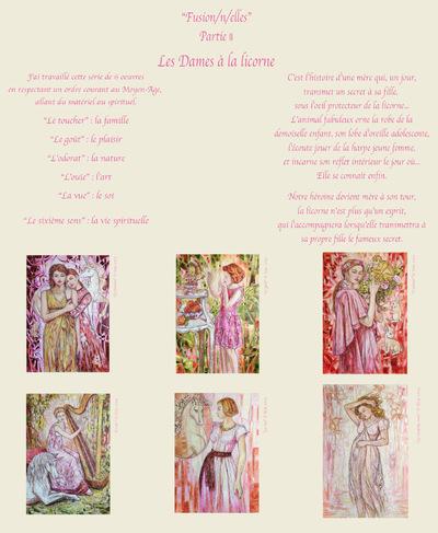 IXIA Artiste - Projet Fusion/n/elles Partie II Les Dames à la licorne 2019