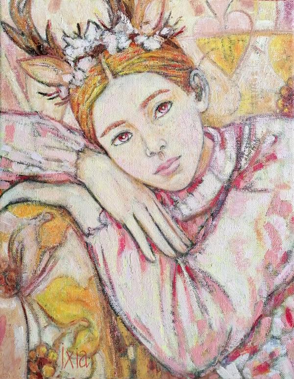 IXIA Artiste - Diane, petit pique dautomne - peinture à lhuile sur toile, 27 x 35 cm, 2020.