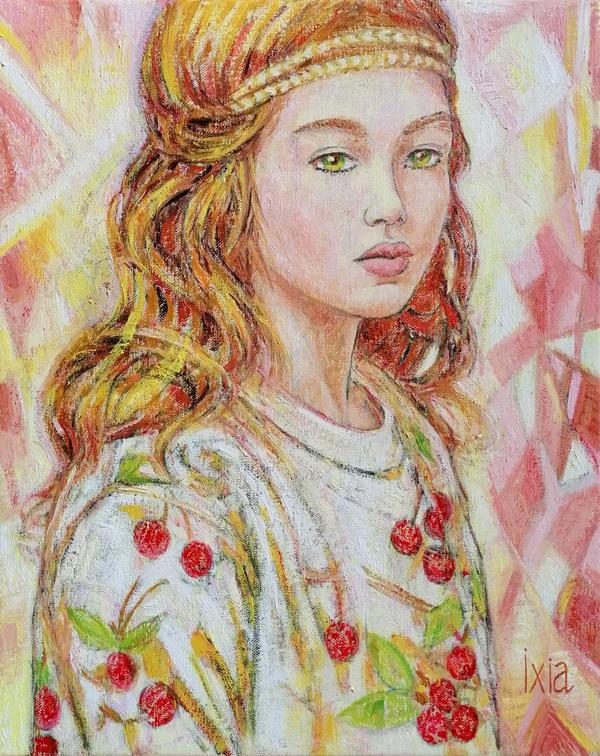 IXIA Artiste - Cérès, petit carreau dété - peinture à lhuile sur toile, 33 x 41 cm, 2020. VENDU // SOLD