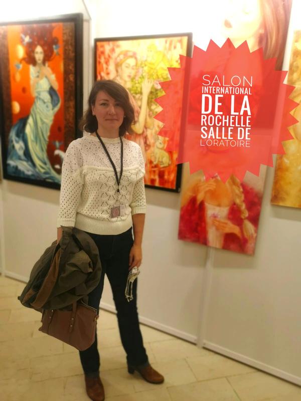 IXIA Artiste - 1er Salon international de La Rochelle (17), jour de vernissage. Salle de lOratoire Octobre 2020