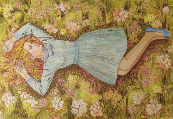 IXIA Artiste - La paresse - 116 x 81 cm, peinture à lhuile sur toile, 2021.