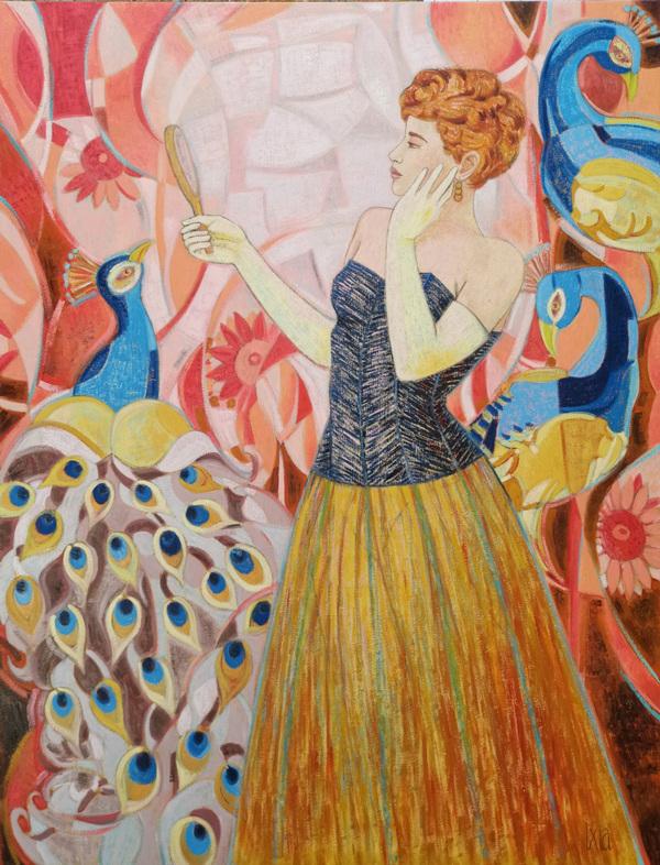 IXIA Artiste - Lorgueil - 116 x 89 cm, peinture à lhuile sur toile, 2021.
