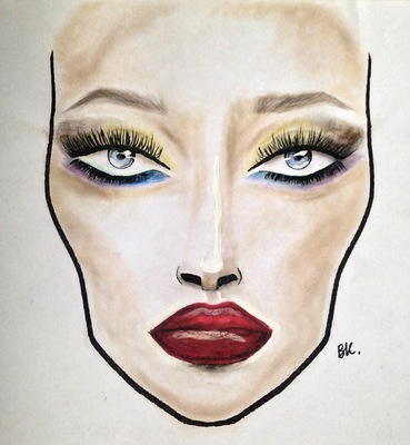 barbarakoziol - The one of my first look that I did in my make up school ( you can see it done on the  Beauty  section ) I just changed the lips here - Peacock eyes