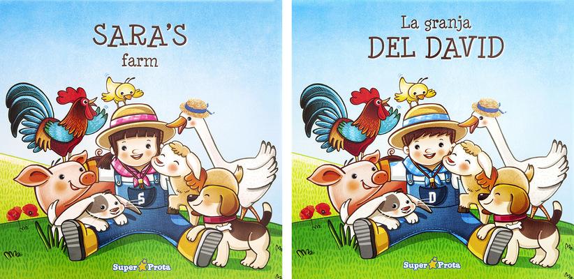 marta biel tres il·lustració - La granja  Conte infantil personalitzat / CAT/ ESP/ ENG Super Prota / Cuentos infantiles personalizados, 2015
