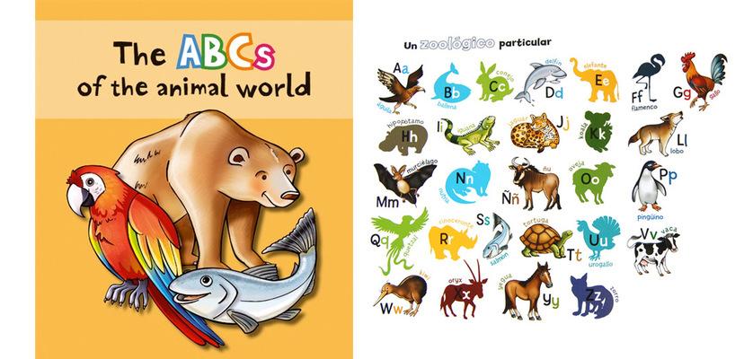 marta biel tres il·lustració - Labecedari del món animal, 2011 CAT / CAS / ENG El zoo dun poeta de la A a la Z, 2011 CAT / CAS  Castellnou Edicions Almadraba Editorial