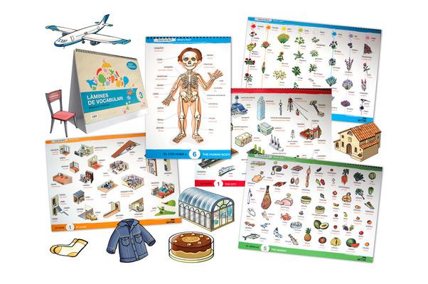 marta biel tres il·lustració - Làmines de vocabulari 4 Blocs / CAT / CAS / ENG  Castellnou Edicions, 2011 Almadraba Editorial, 2011