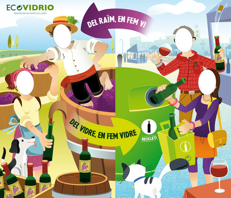 marta biel tres il·lustració - Photocall / Display / Ecovodrio Cavatast  Lavola Sostenibilitat