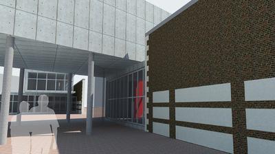 CLEMENT LANGELIN ARCHITECTURE - VUE DEPUIS LACCES NORD