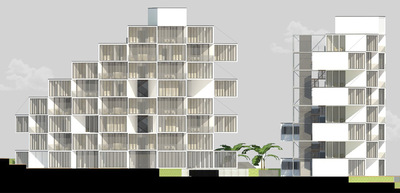 CLEMENT LANGELIN ARCHITECTURE - ELEVATION NORD