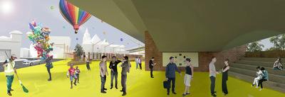 CLEMENT LANGELIN ARCHITECTURE - VUE DE LA ZONE DURANT DES EVENEMENTS