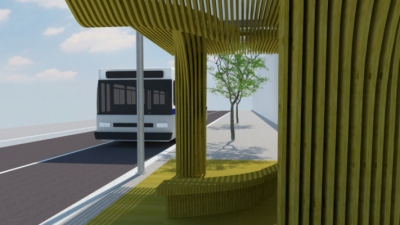 CLEMENT LANGELIN ARCHITECTURE - Station de bus - Optionnel Bois - 2012 - ENSA Normandie
