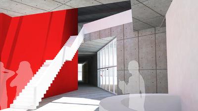 CLEMENT LANGELIN ARCHITECTURE - VUE SUR LE HALL DACCEUIL