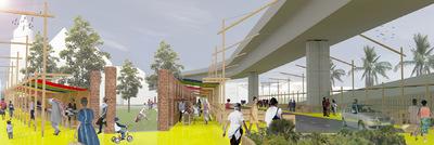CLEMENT LANGELIN ARCHITECTURE - VUE DE LA ZONE AUX HEURES DE POINTE