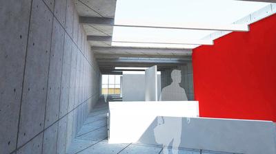 CLEMENT LANGELIN ARCHITECTURE - VUE SUR LA SALLE DEXPOSITION TEMPORAIRE
