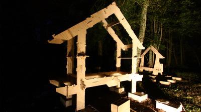 CLEMENT LANGELIN ARCHITECTURE - POSE DE LA PREMIÈRE TRAME