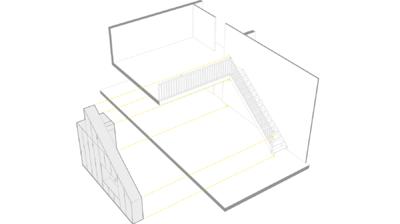 CLEMENT LANGELIN ARCHITECTURE - Schéma dinsertion du meuble