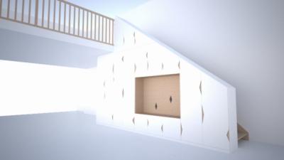 CLEMENT LANGELIN ARCHITECTURE - Le meuble sous lescalier - 2015 - Etudes