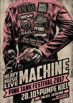 SAMSON - Pink Tank Festival 2017 - Poster for Kiel