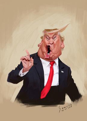 SAMSON - Donald Trump /// Sketch
