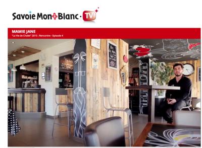 Marie LG - Emission La Vie de Chalet, sur la TV8 Mont Blanc, consacrée en grande partie au Mamie Jane et à mon travail de décoration et aménagement.