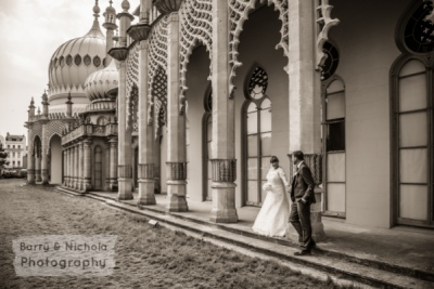 Barry & Nichola Photography - Mr and Mrs Fallows - Brighton Pavilion on to West Hove Golf Club