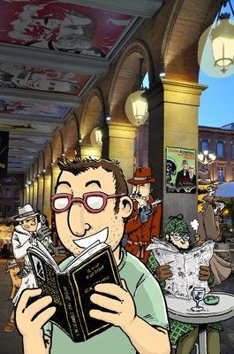 Book Élias FARÈS - Illustration darticle pour le magazine À Toulouse