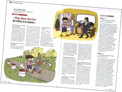Book Élias FARÈS - Illustration darticle pour le magazine À Toulouse