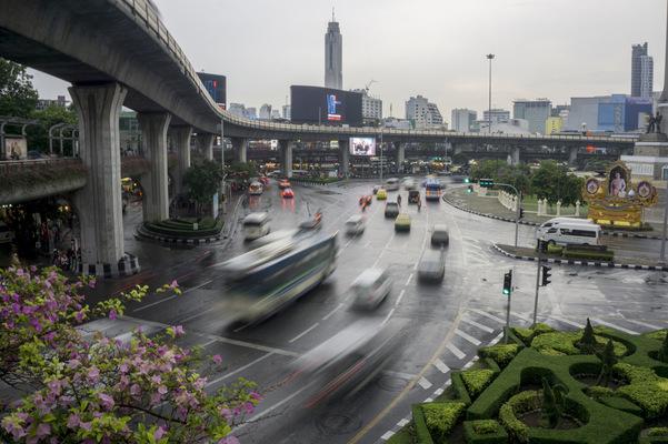 Leyla Kazim | Photography - Victory Monument roundabout, Bangkok - Thailand