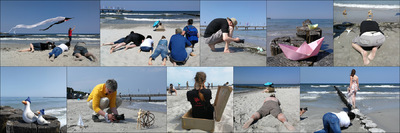 Nicole Oestreich ... - 2o18 / Workshop in Zingst Ein Koffer voller Ideen ...