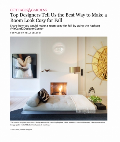 Tori Golub Interior Design - NYC&G September 2015