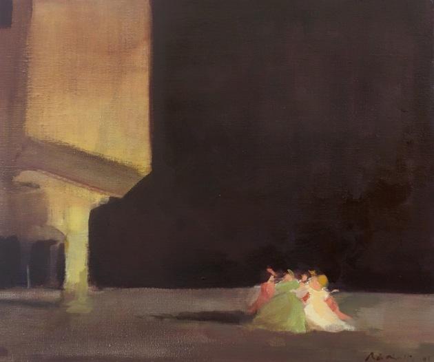 Bertrand de Miollis - 6- Messe basse - inspiration du ballet Le Parc - 55 cm x 46 cm