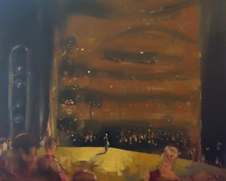 Bertrand de Miollis - 17- Ovation 1- Manon -départ de la danseuse Etoile Aurélie Dupont - 65 cm x 54 cm