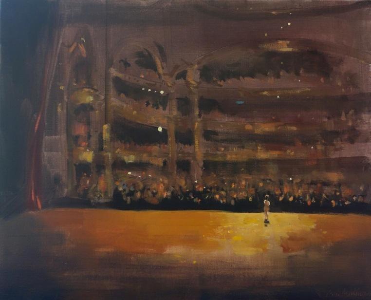 Bertrand de Miollis - 28-Ovation 2- départ de la danseuse Nicolas Le Riche - 65 cm x 54 cm
