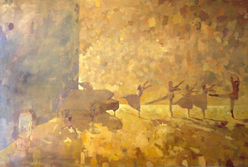 Bertrand de Miollis - 35- La joie inspiré du ballet La Dame aux camélias - 210 cm x 140 cm