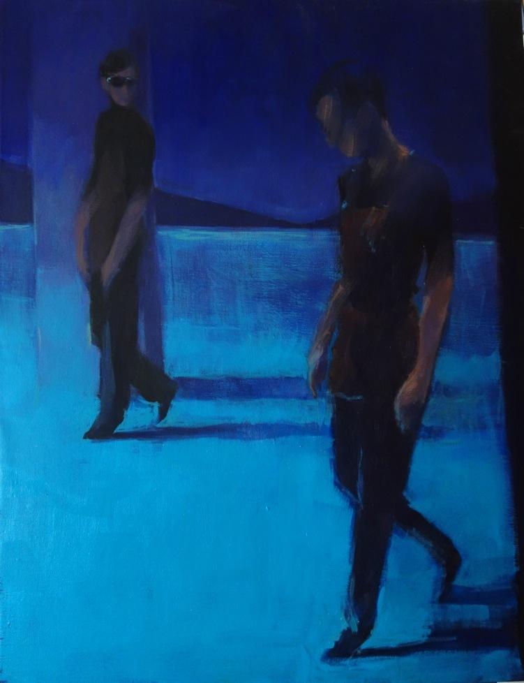 Bertrand de Miollis - 7- Les jardiniers - inspiré du ballet Le Parc- 80 cm x 65 cm
