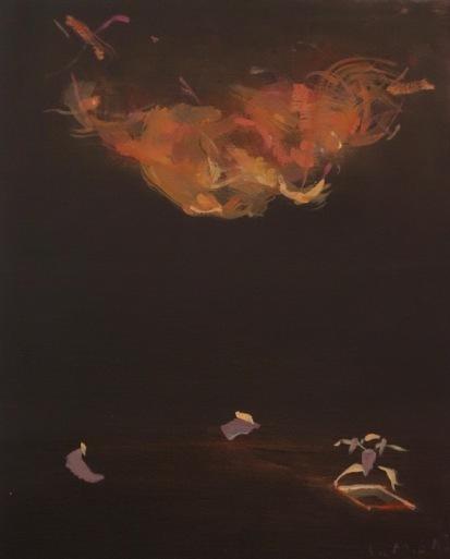 Bertrand de Miollis - 18- Sous le nuage - daprès le ballet Doux mensonges - 46 x 38 cm