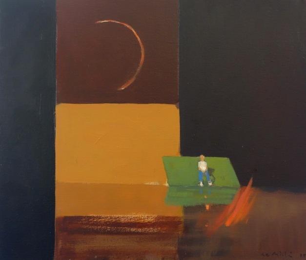 Bertrand de Miollis - 10- Etoile filante - daprès le Chant de la Terre - 55 cm x 46 cm