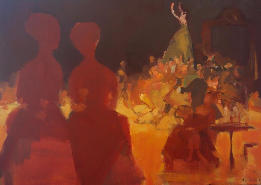 Bertrand de Miollis - 33- Nuit enivrante, daprès lhistoire de Manon 73x54cm