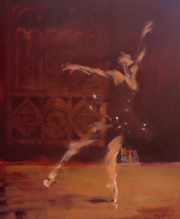 Bertrand de Miollis - 36- La danseuse, daprès le lac des cygnes, 36- 65cm x 54cm