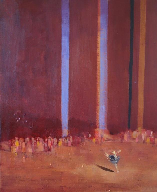 Bertrand de Miollis - 37- La danseuse, daprès le Lac des Cygnes, 61x50cm