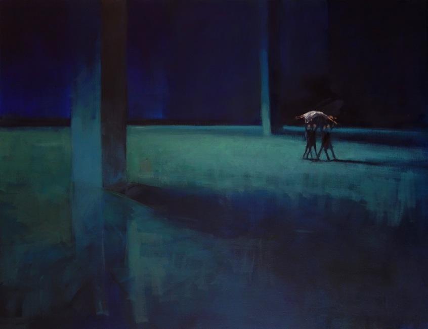 Bertrand de Miollis - 20- Procession nocturne - 116 cm x 89 cm