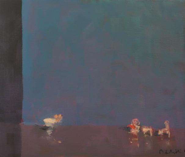 Bertrand de Miollis - 16- Létreinte - Daprès Le Bal aux Camélias - 46 cm x 38 cm