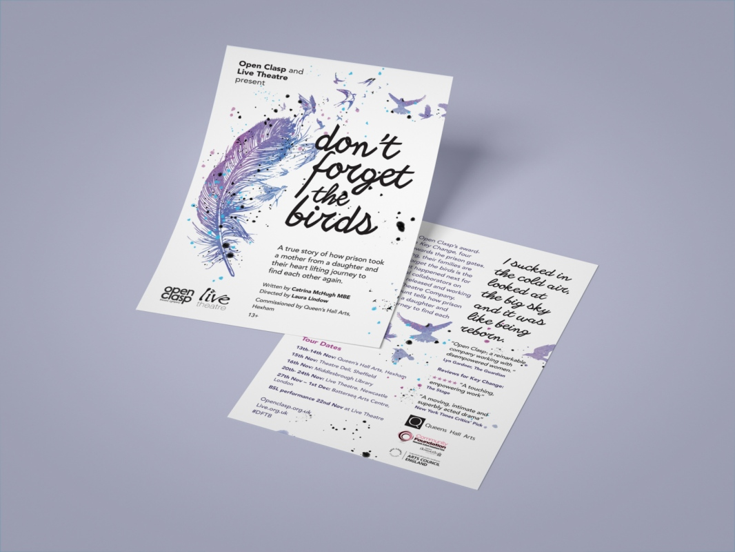 jwhitedesigner - Open Clasp Theatre Company, Gateshead. 2018 Production Flyer